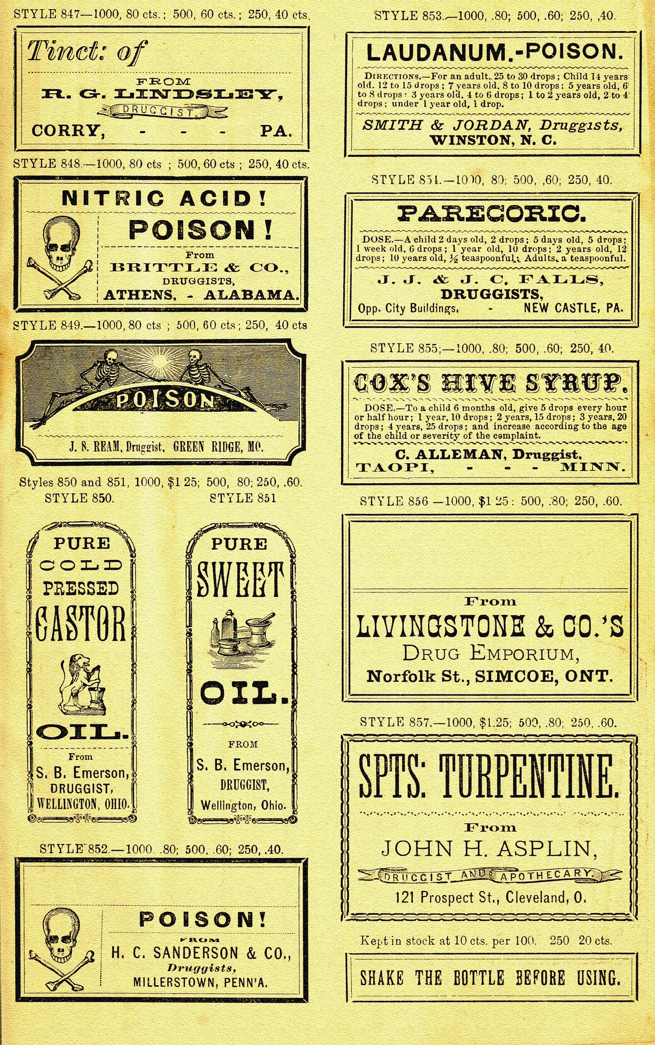 Printable Labels For Apothecary Jars | Oh So Nifty Vintage Graphics - Free Printable Apothecary Jar Labels