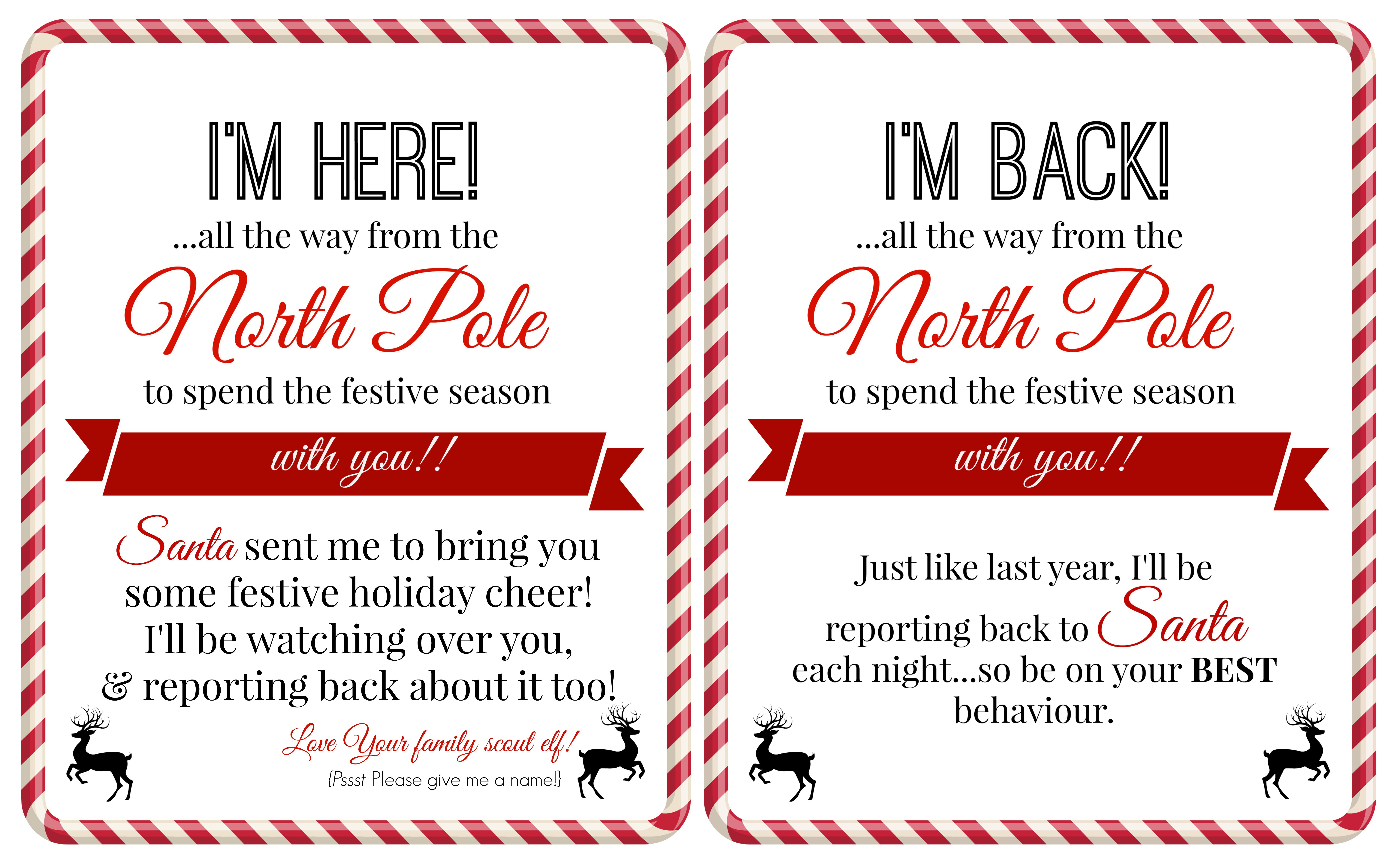 Printable Letter From Santa About Elf On The Shelf New Free Elf On A - Free Printable Elf On The Shelf Letter