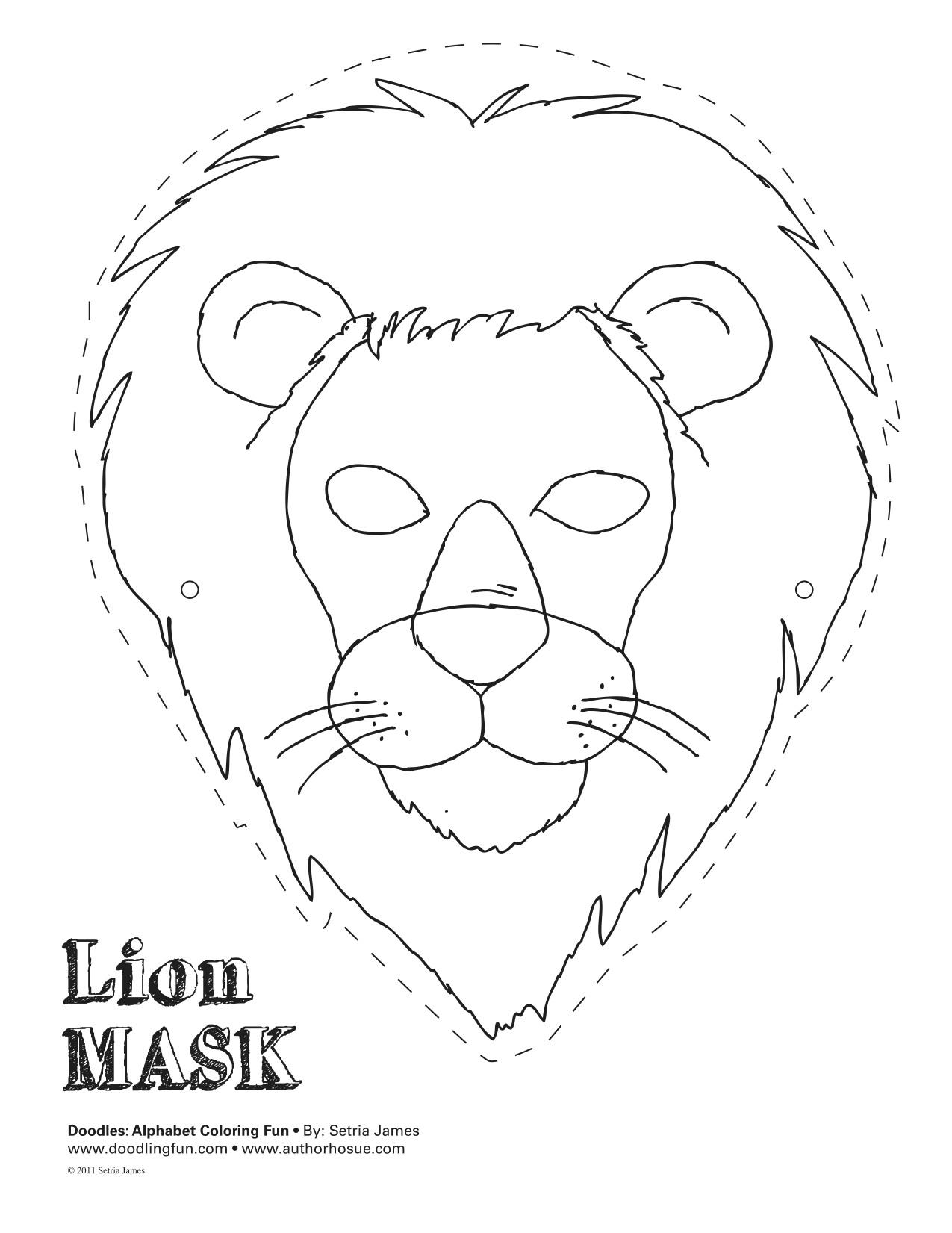 Printable Lion Mask Template - Printable 360 Degree - Free Printable Lion Mask