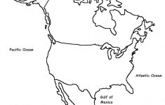 Printable Map Of North And South America And Travel Information - Free Printable Outline Map Of North America