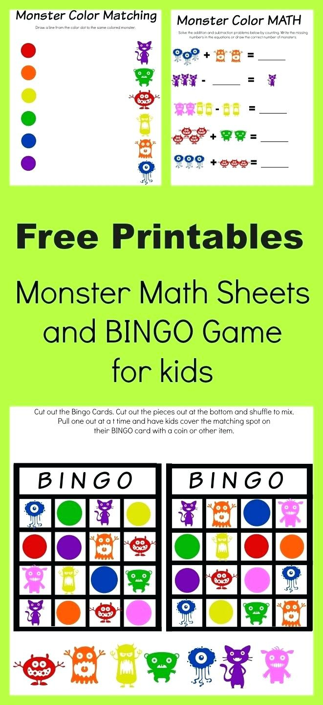 Math Bingo Free Printable
