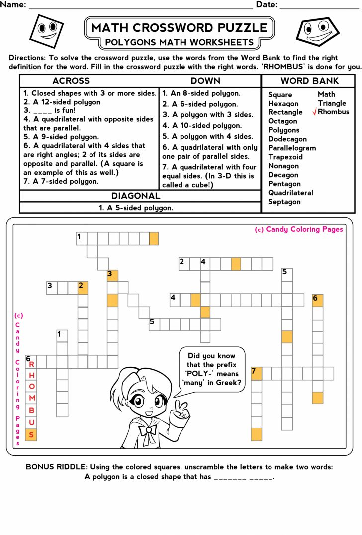 Free Printable Math Puzzles