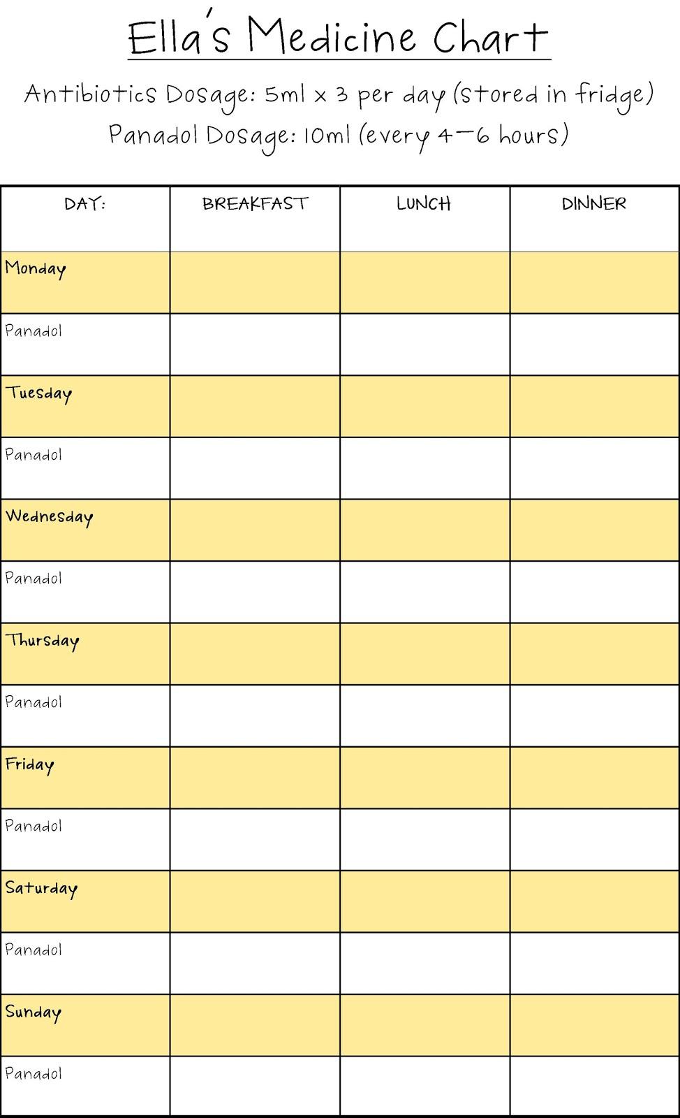 Printable Medication Schedule Image Result For Medicine Chart - Free Printable Daily Medication Schedule