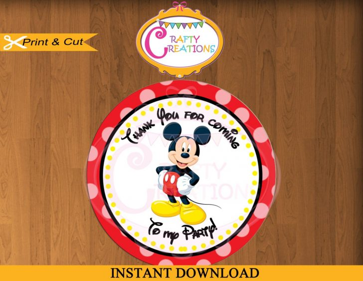 Free Printable Mickey Mouse Favor Tags