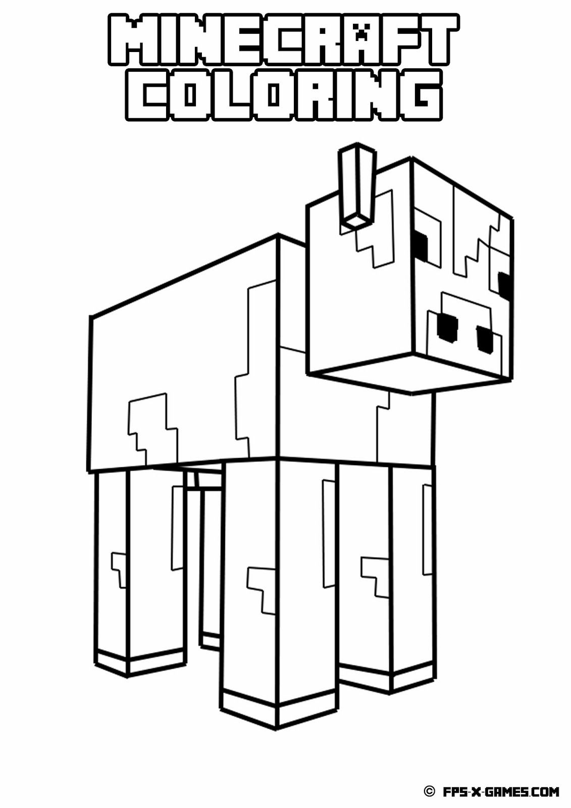 Printable Minecraft Coloring Page | Minecraft Coloring | Pinterest - Free Printable Minecraft Activity Pages