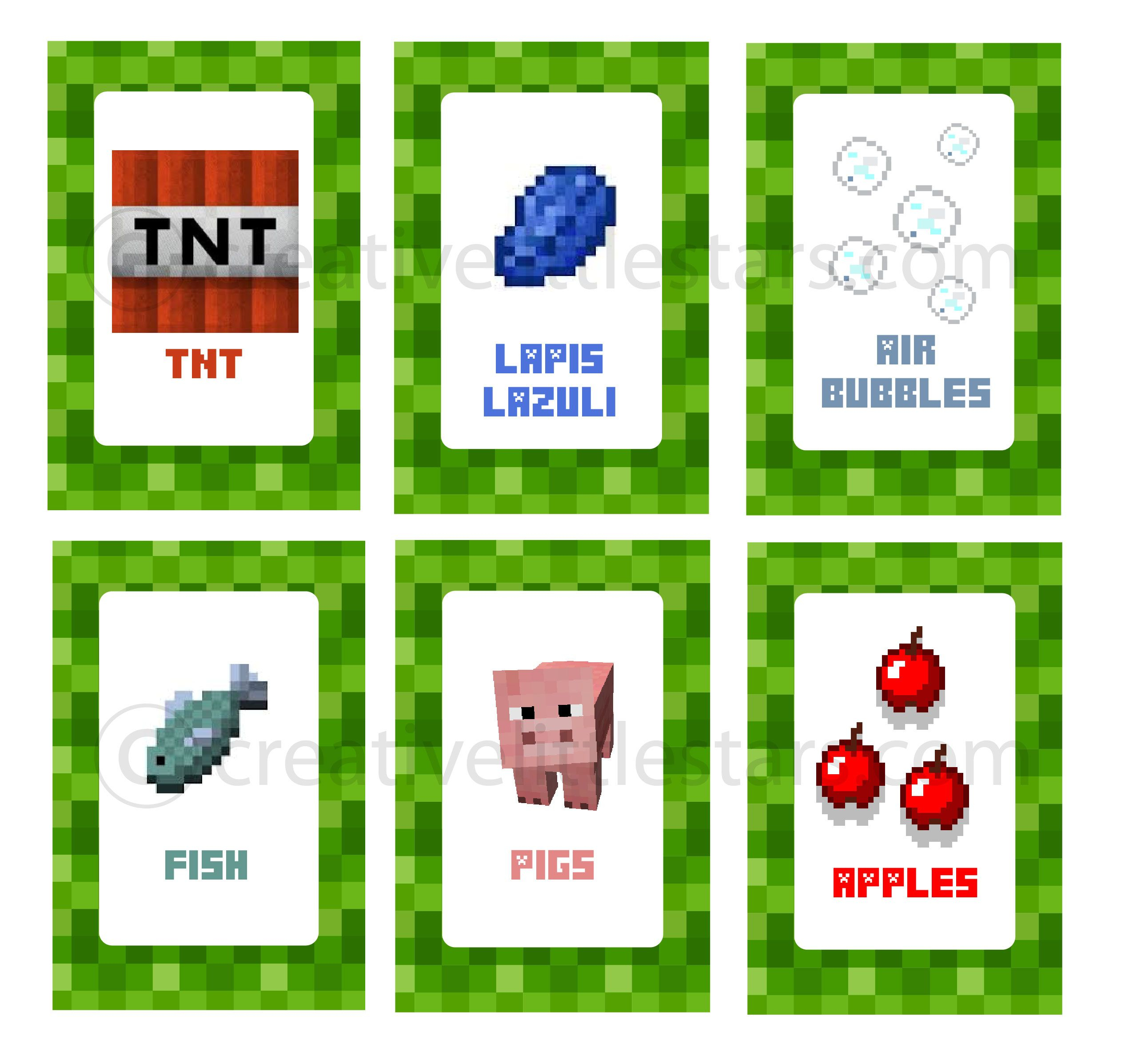 Printable Minecraft Food Labels | Diy Party Supplies | Pinterest - Free Printable Minecraft Food Labels