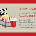 Printable Movie Ticket Invitations Free For You Invitation Templates   Free Printable Movie Ticket Birthday Party Invitations