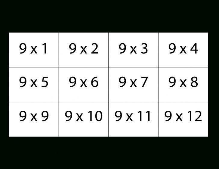 Free Printable Multiplication Flash Cards