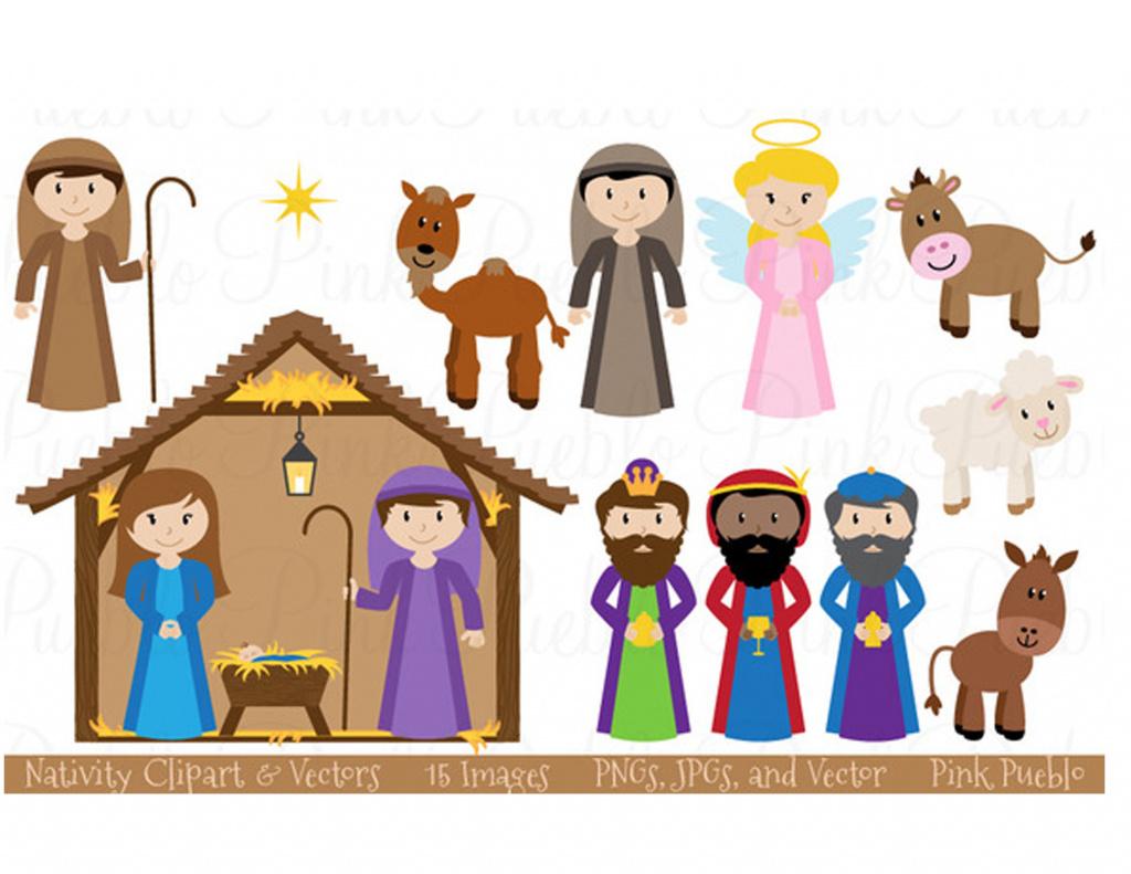Printable Nativity Scene - Printable 360 Degree With Free Printable - Free Printable Nativity Scene Pictures