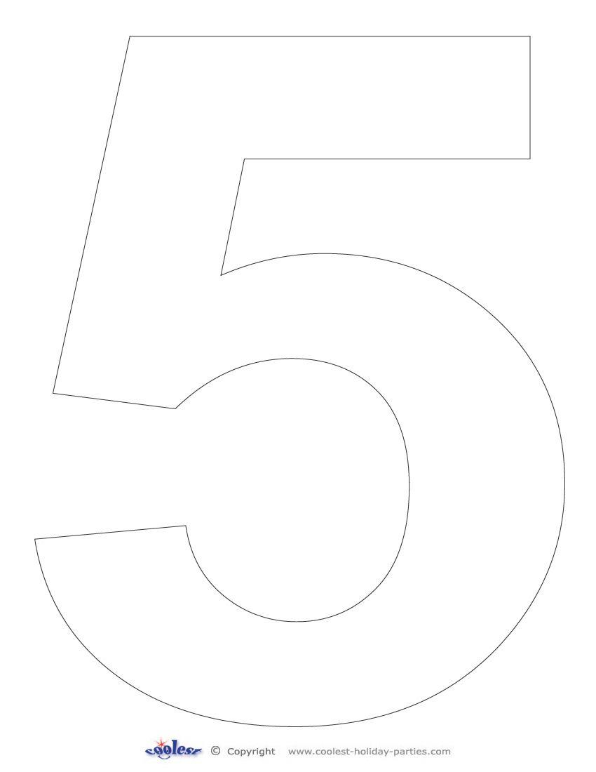 Printable Number 5 - Coolest Free Printables | Racing Party - Free Printable Number Stencils
