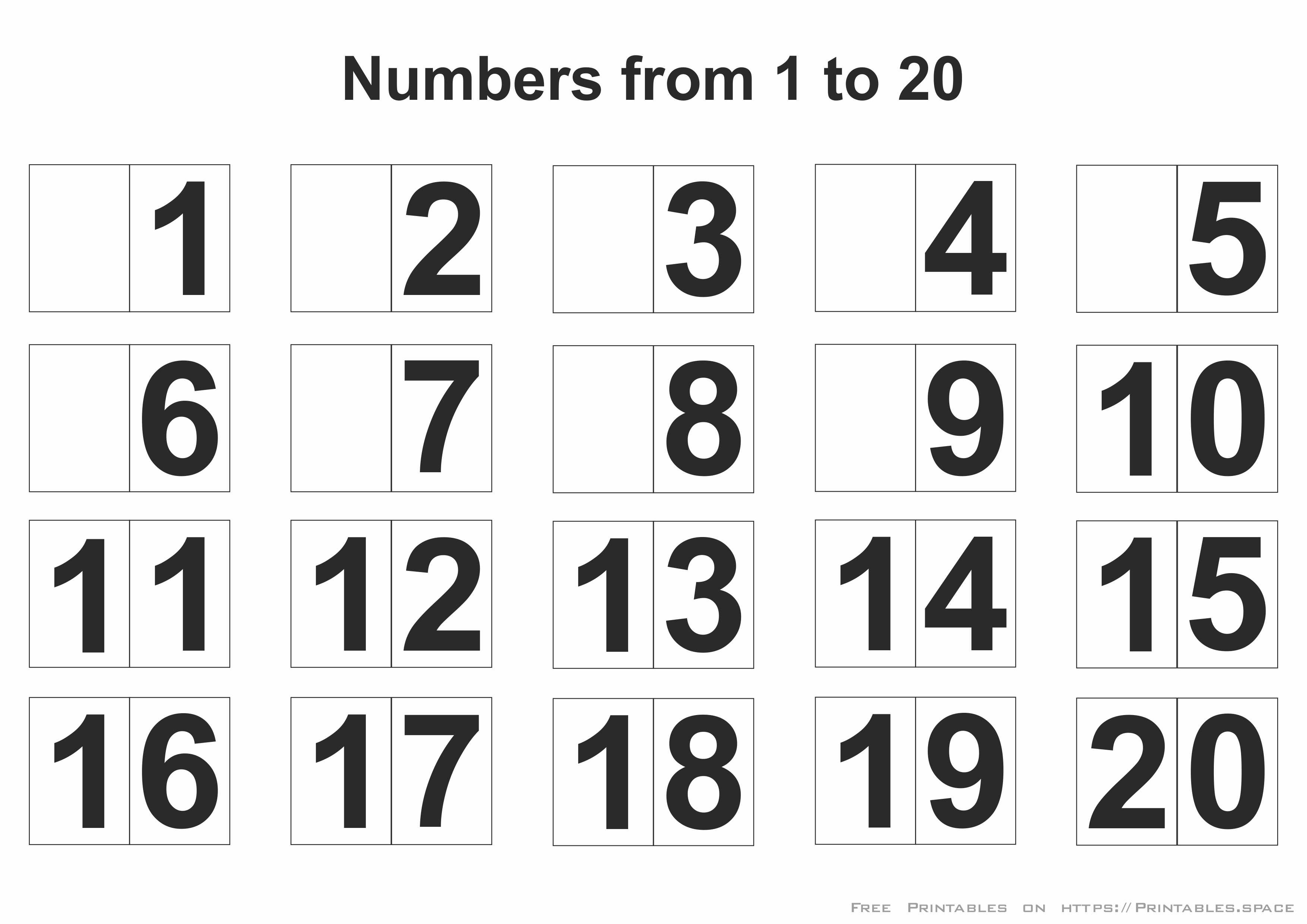 Printable Numbers 1-20 - Free Printables - Free Printable Numbers 1 20