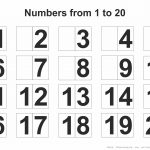 Printable Numbers 1 20   Free Printables   Free Printable Numbers
