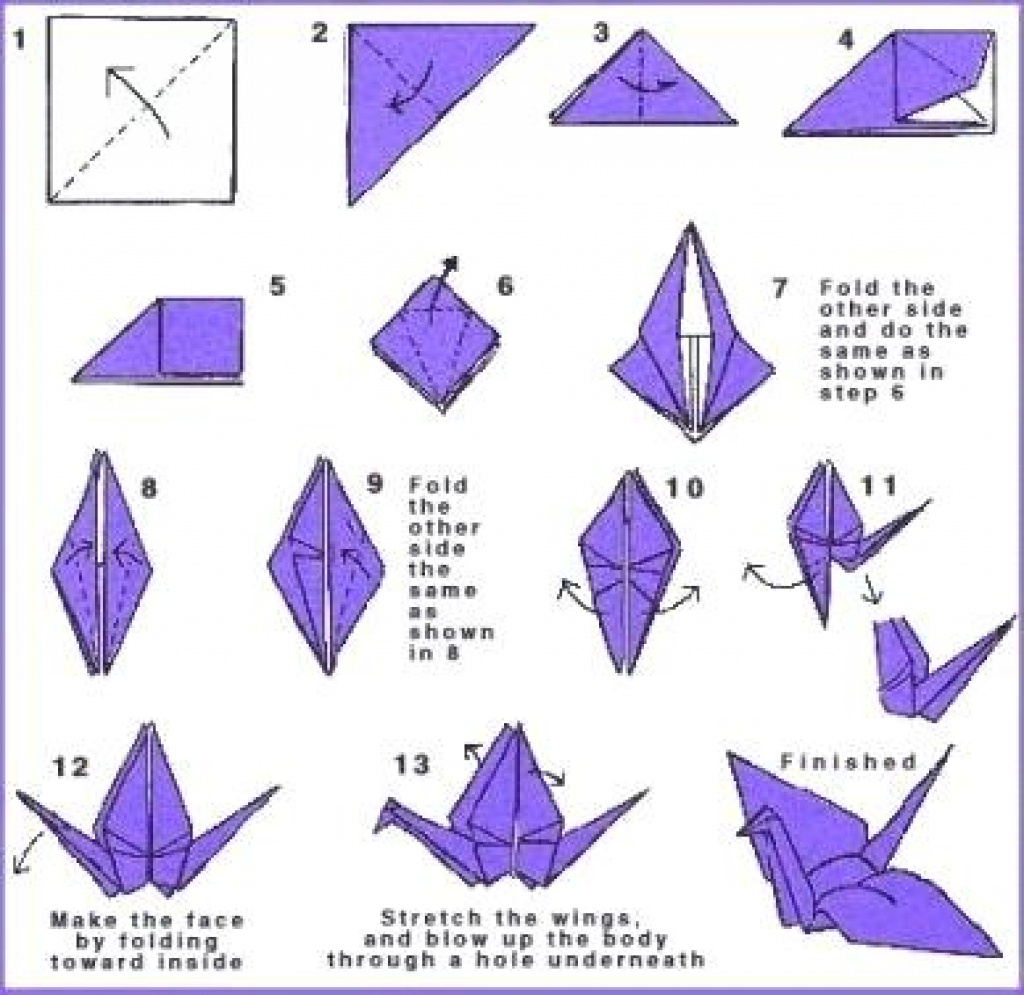 Printable Origami Instructions Free Origami Patterns Printable - Printable Origami Instructions Free