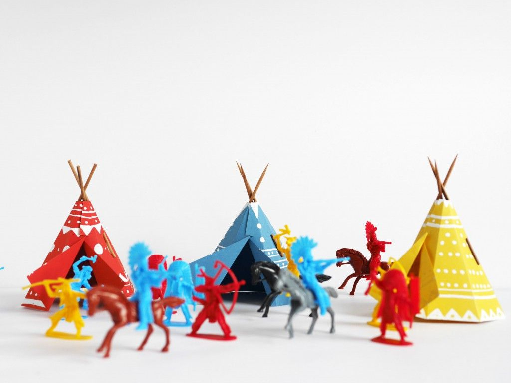 Printable Papercraft Teepee Village | Do It Yourself's | Paper - Free Printable Teepee