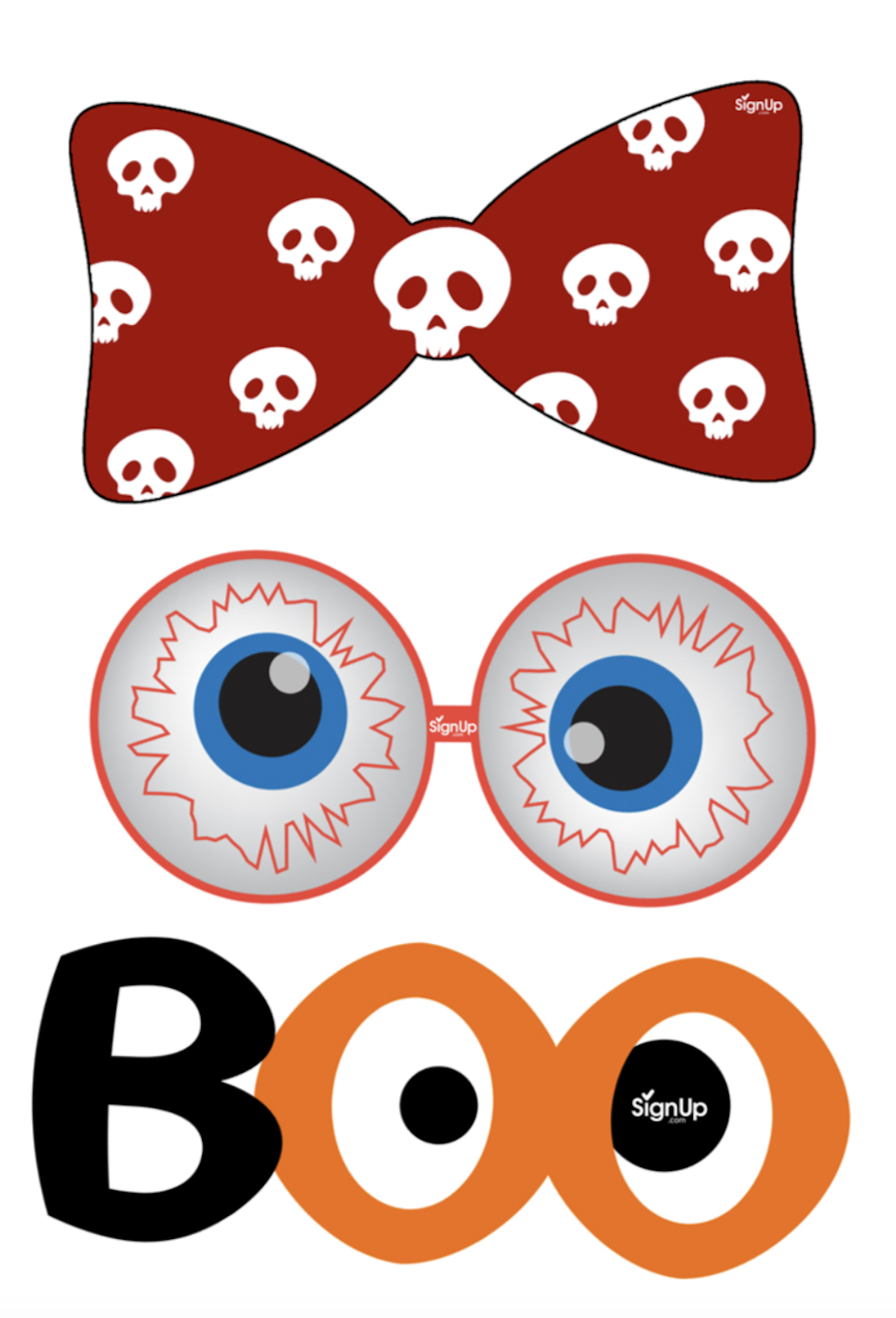 Printable Photobooth Props: Halloween Party Craft Activity | Signup - Free Photo Booth Props Printable Pdf