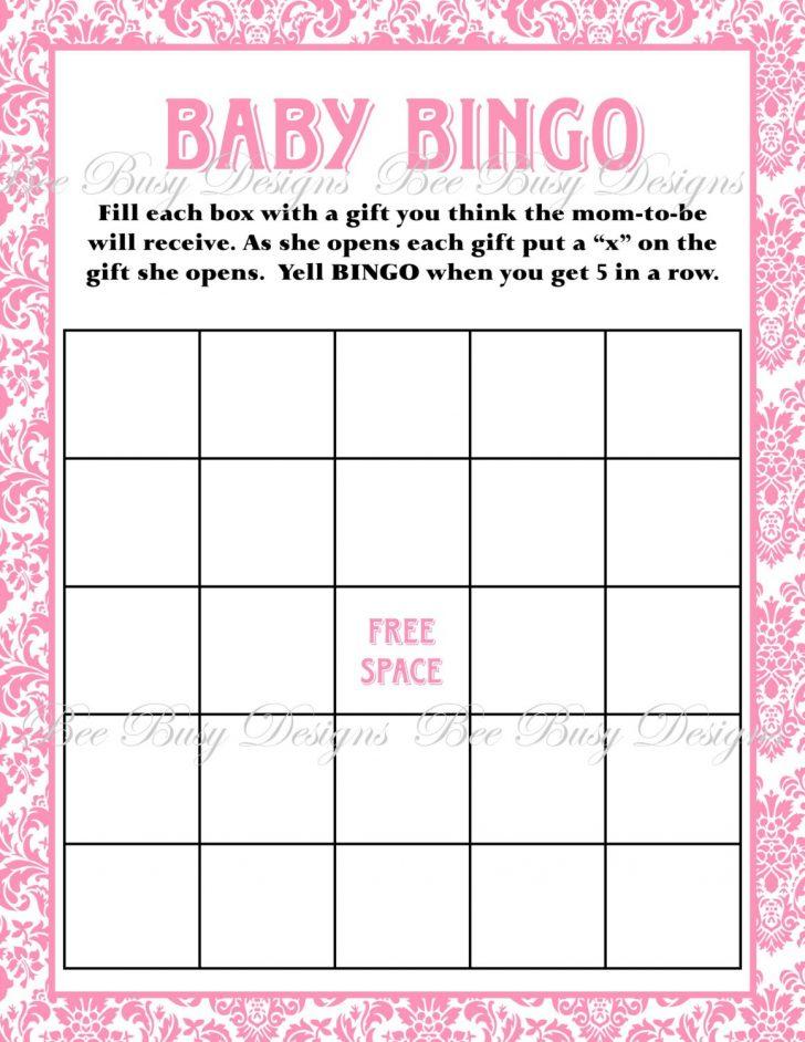 Baby Bingo Free Printable Template