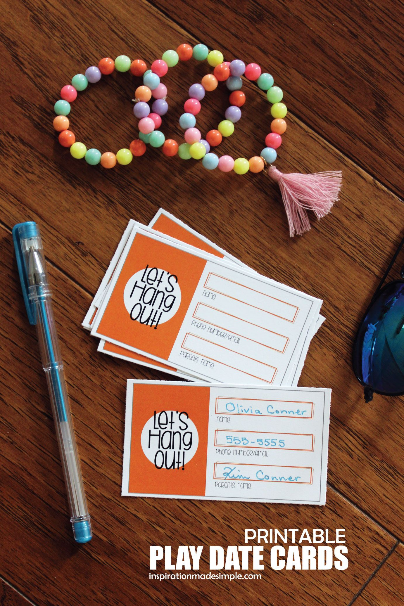 Printable Play Date Cards For Kids | Pinterest - Free Printable Play Date Cards