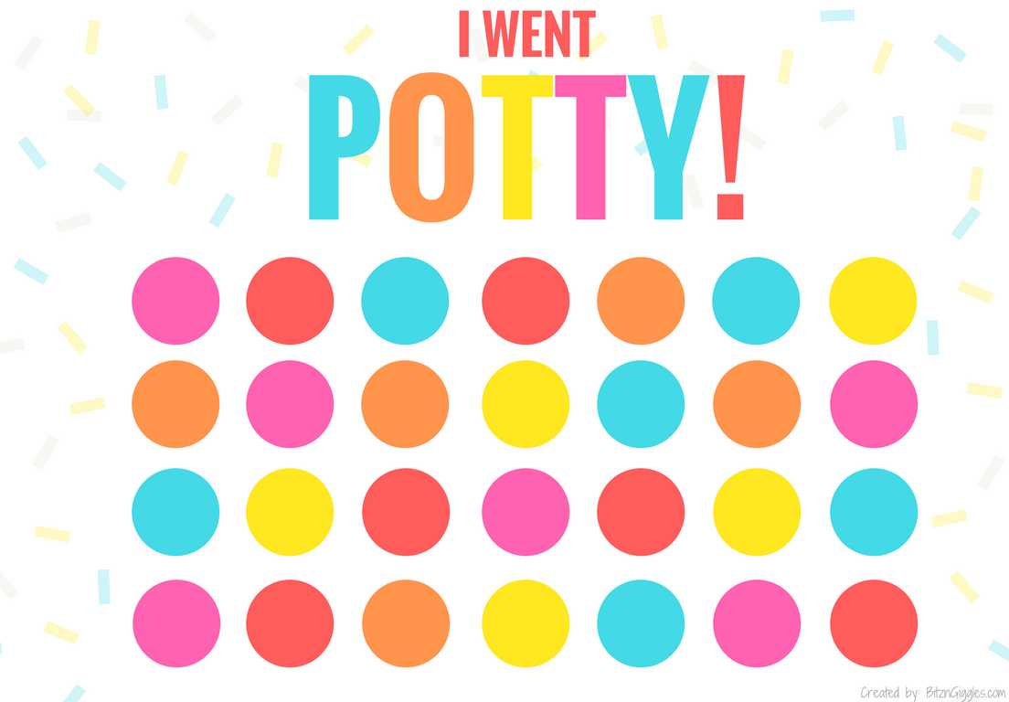 Printable Potty Training Chart - Bitz & Giggles - Free Printable Potty Training Charts
