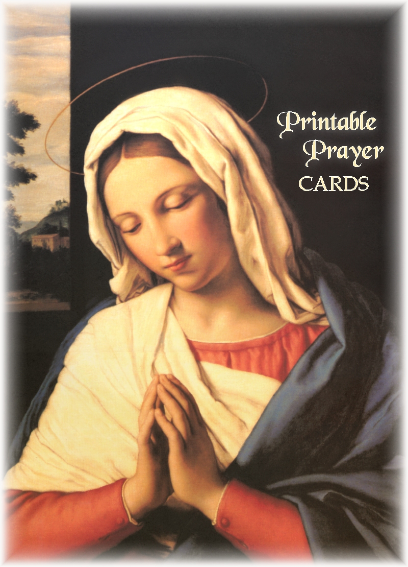 This is an image of Vibrant Printable Catholic Prayer Cards