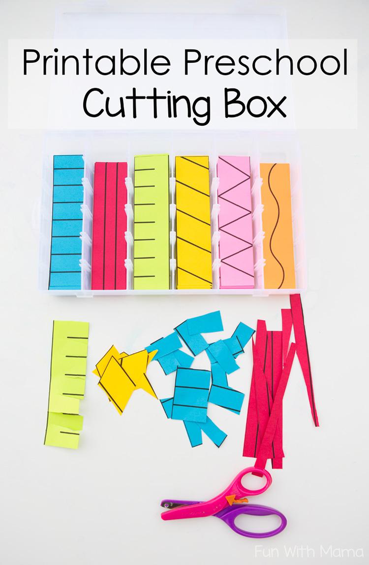 Printable Preschool Cutting Busy Box - Fun With Mama - Free Printable Fine Motor Skills Worksheets