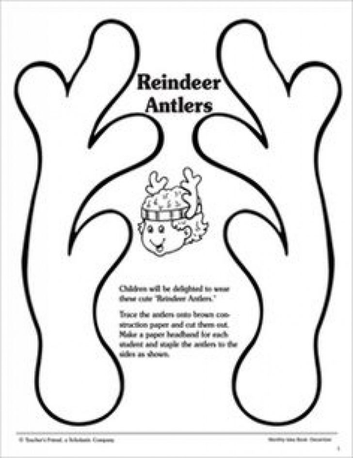 Reindeer Antlers Template Free Printable