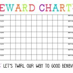 Printable Reward Chart   The Girl Creative   Free Printable Reward Charts For Teenagers