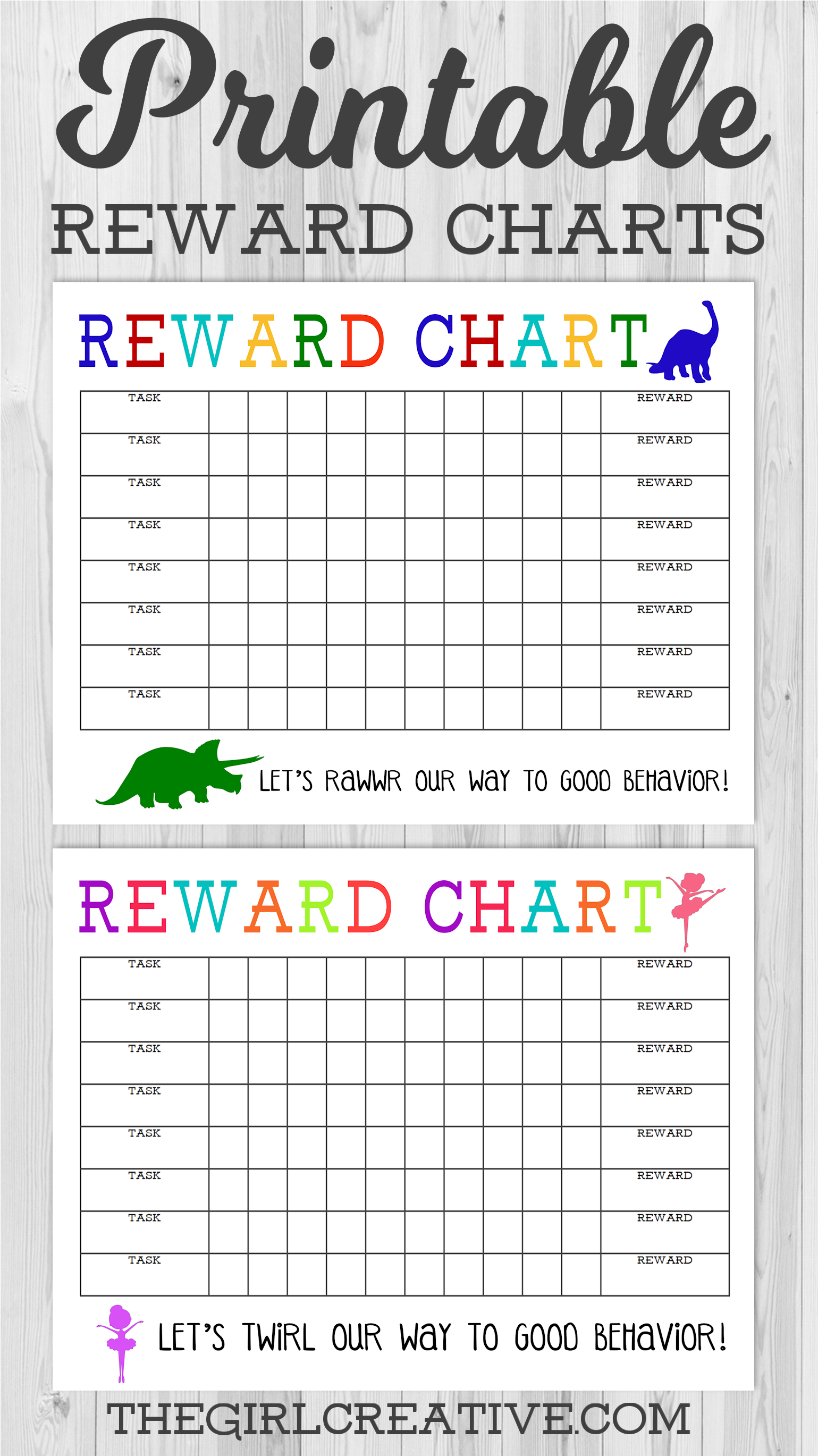 Printable Reward Chart - The Girl Creative - Free Printable Reward Charts For Teenagers
