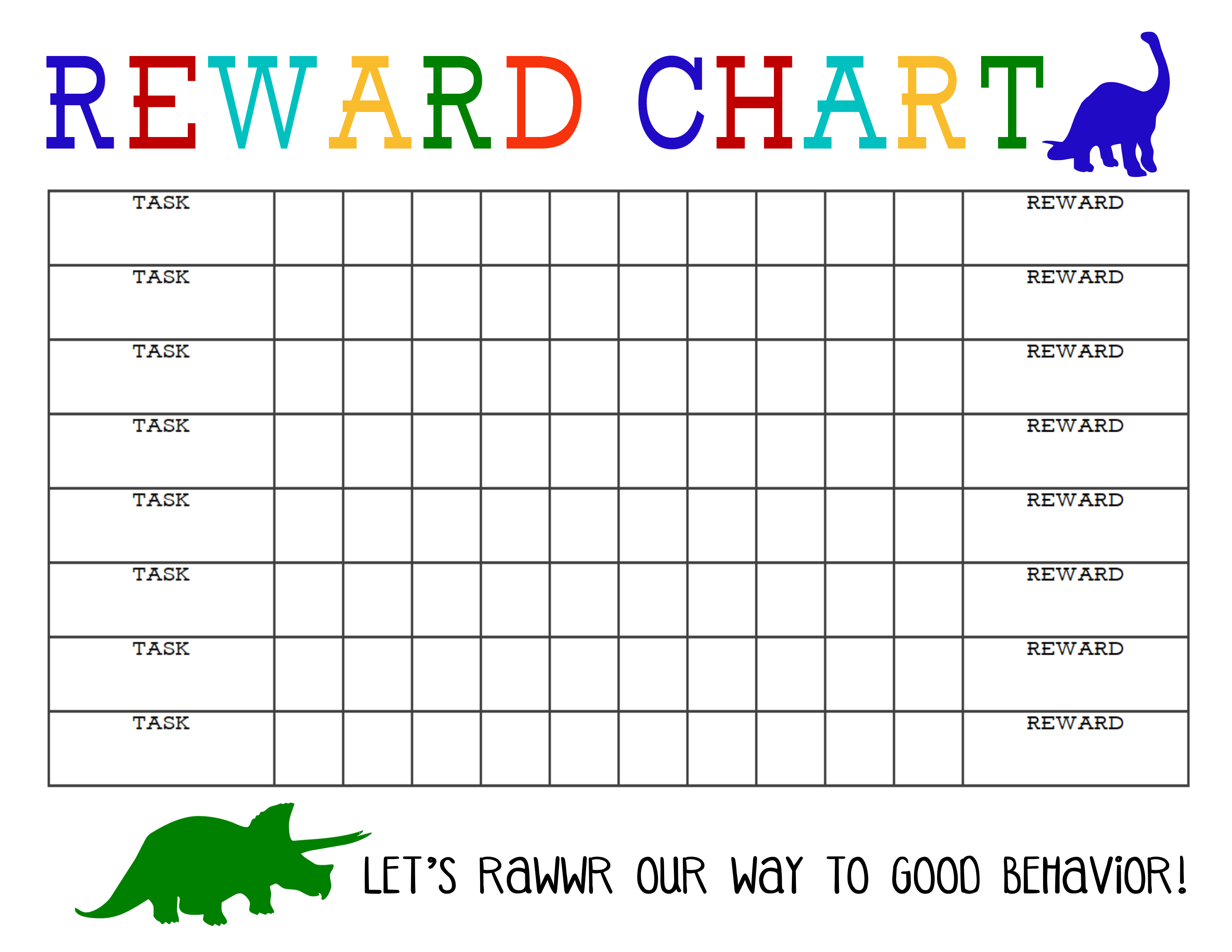 Printable Reward Chart - The Girl Creative - Free Printable Reward Charts