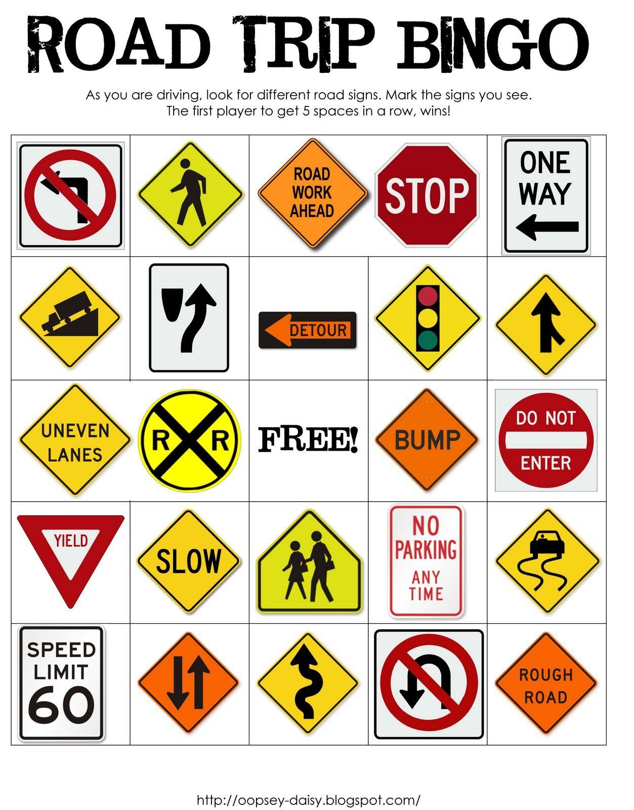 Printable Road Trip Bingo | Road Trip! | Pinterest | Road Trip Bingo - Free Printable Car Ride Games