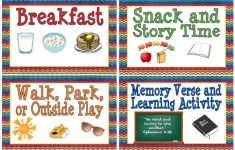 Printable Schedule Cards For Preschool | Download Them Or Print - Free Printable Schedule Cards For Preschool