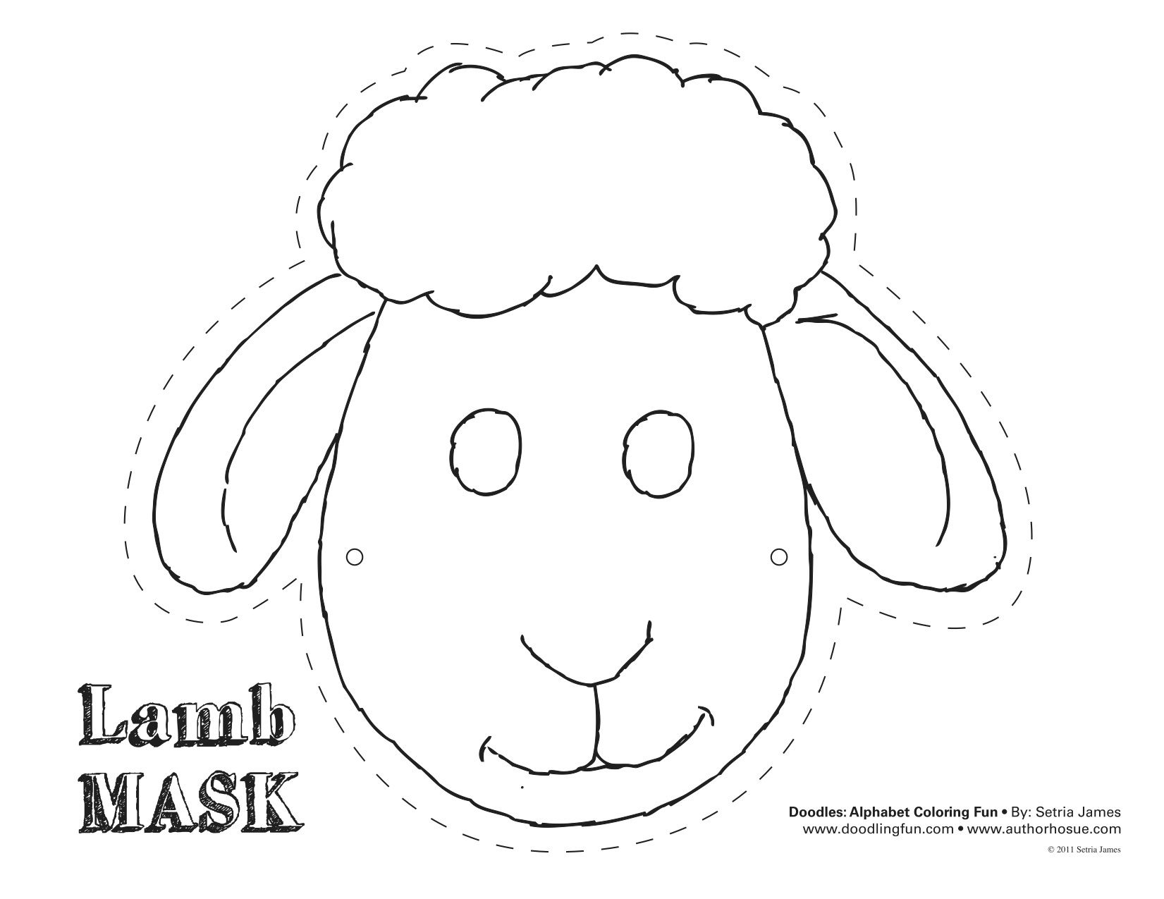 Printable Sheep Mask Template | Art - Free Printable Easter Masks