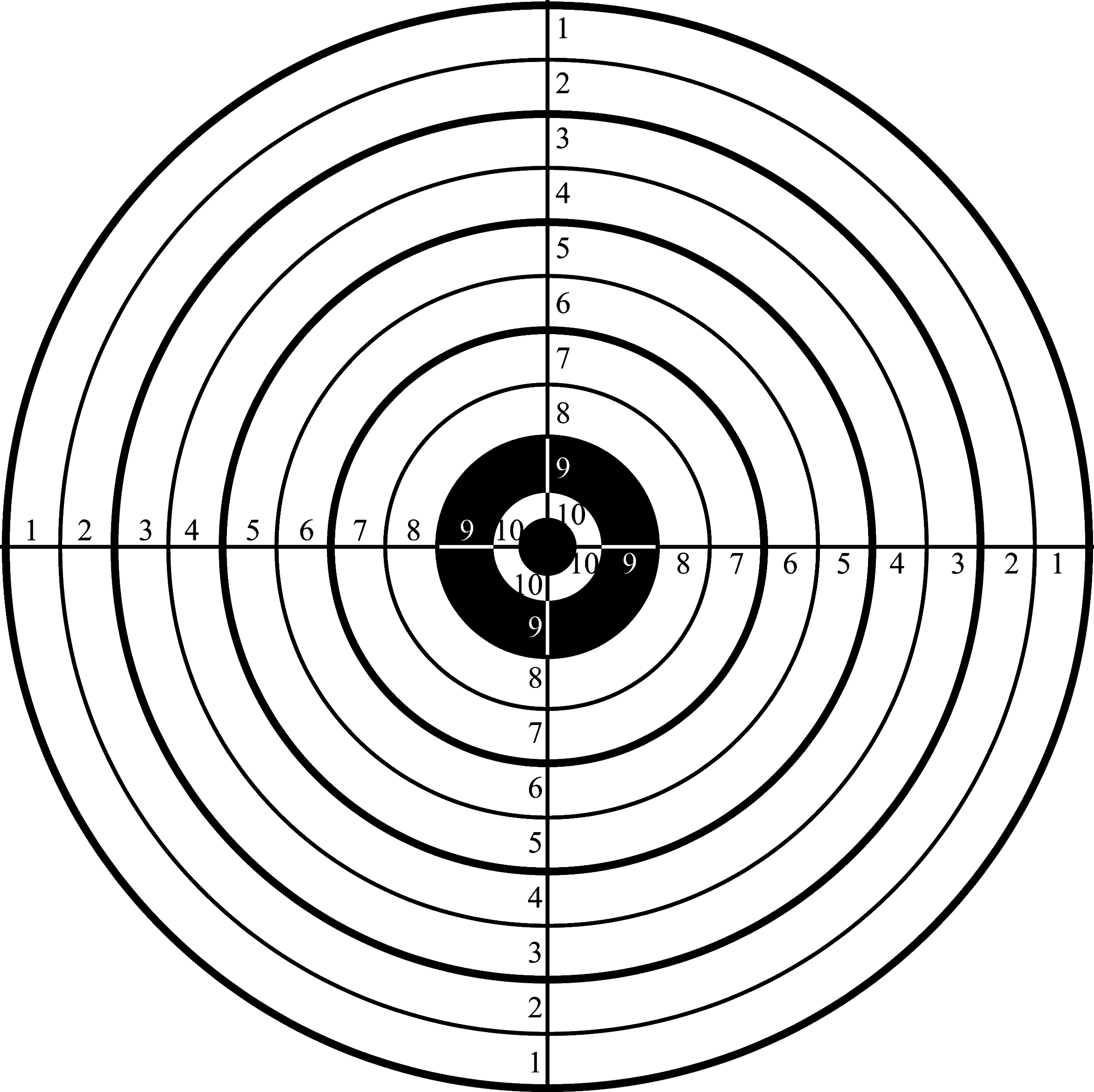 Printable Shooting Targets For Pistol, Rifle, Airgun, Archery - Free Printable Shooting Targets