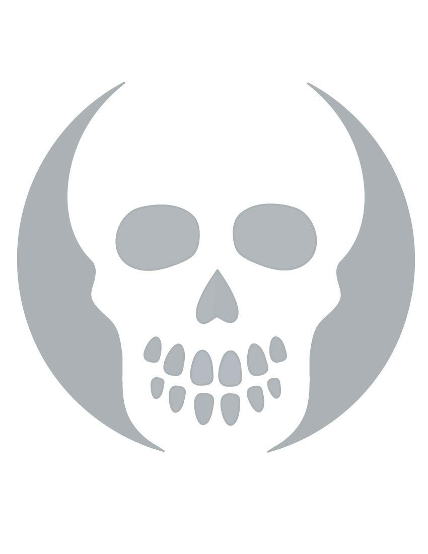 Printable Skull Stencil Coolest Free Printables   Halloween - Skull Stencils Free Printable