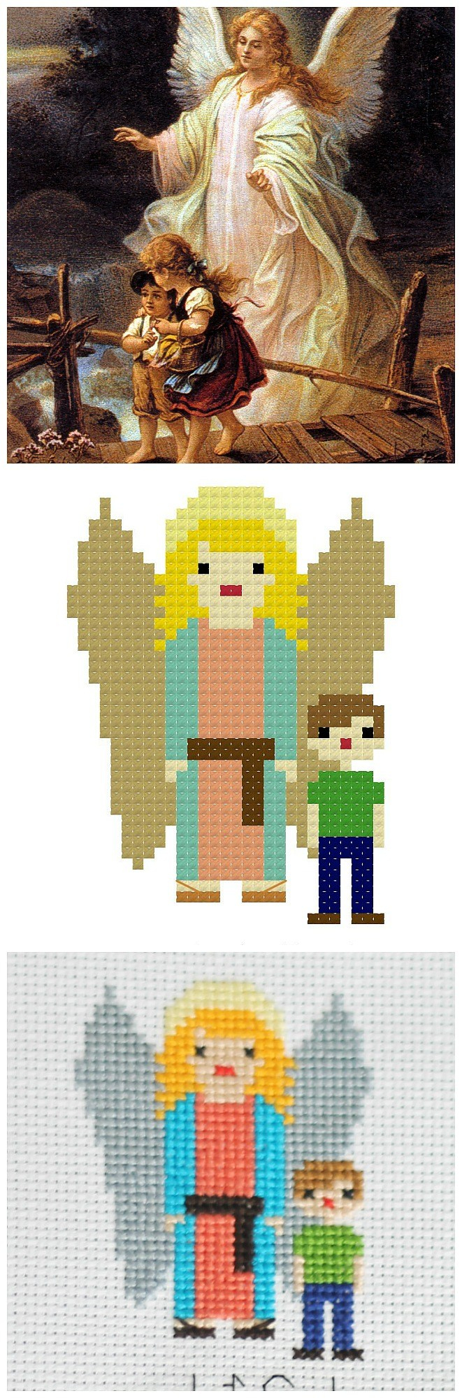 Free Printable Cross Stitch Patterns Angels