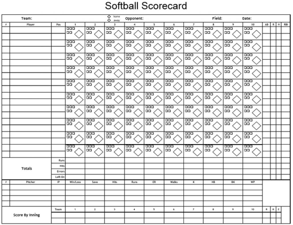 Printable Softball Score Sheet | Printable Sheets - Free Printable Softball Images