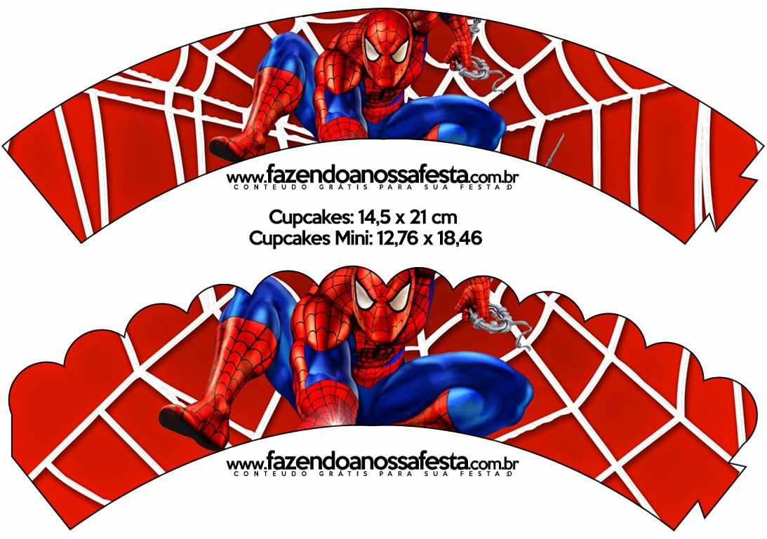 Printable Spiderman Cupcake Wrappers | Free Printable Cupcake - Free Printable Spiderman Pictures