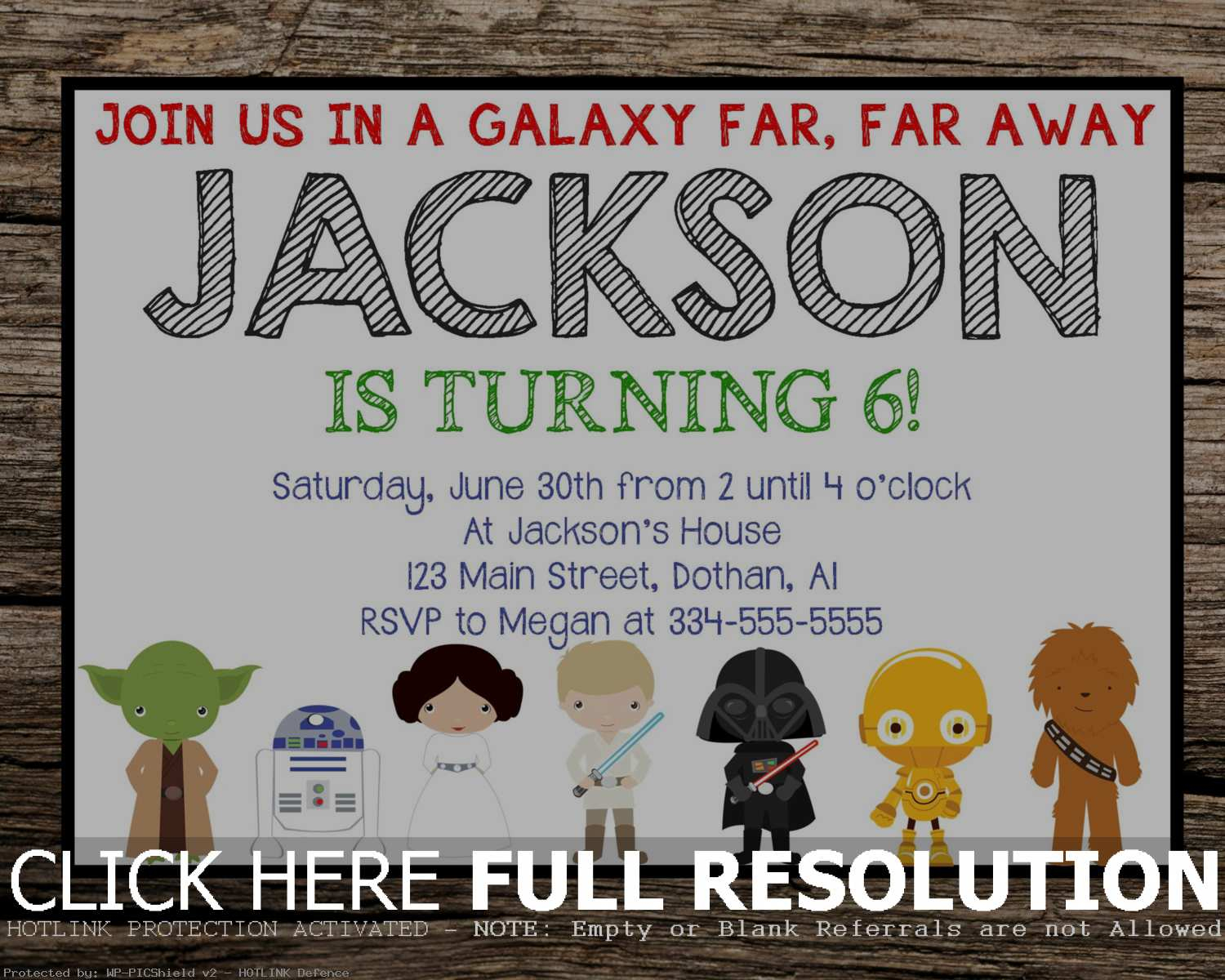 Printable Star Wars Birthday Invitations | Hunecompany - Star Wars Invitations Free Printable
