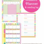 Printable Student Planner And Reading Log | Free Printables   Free Printable Student Planner