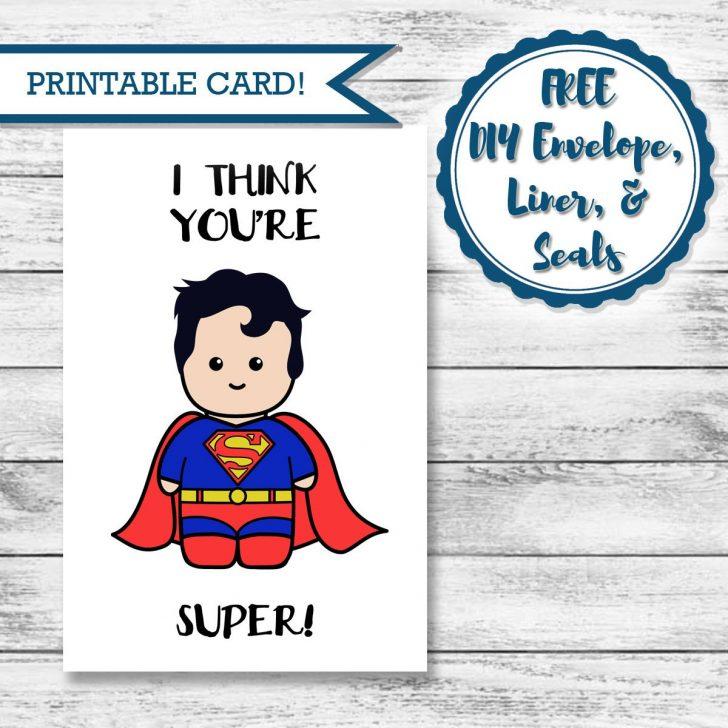 Free Printable Superman Valentine Cards
