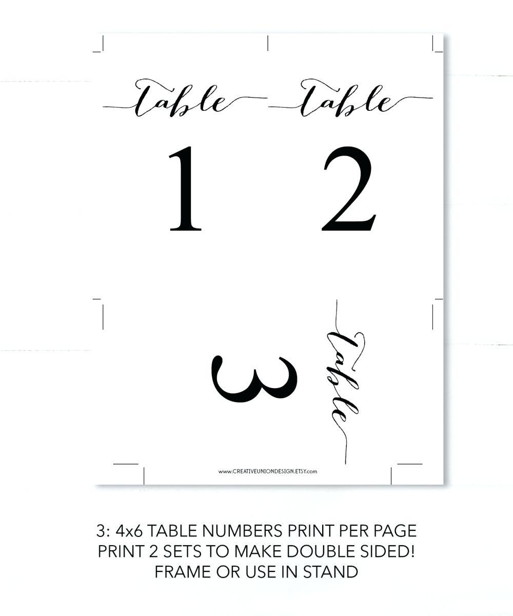 Printable Table Numbers – Namiswla - Free Printable Table Numbers 1 20