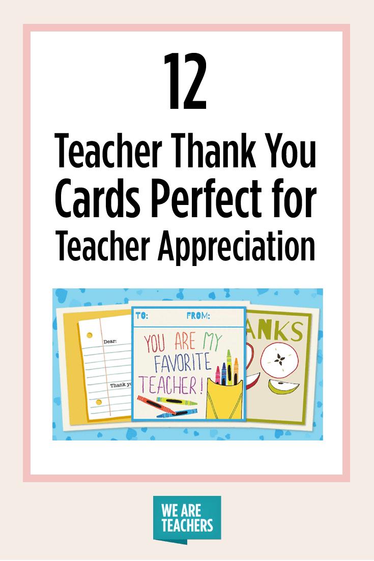 Printable Teacher Thank You Cards For Teacher Appreciation - Free Printable Thank You Cards For Teachers