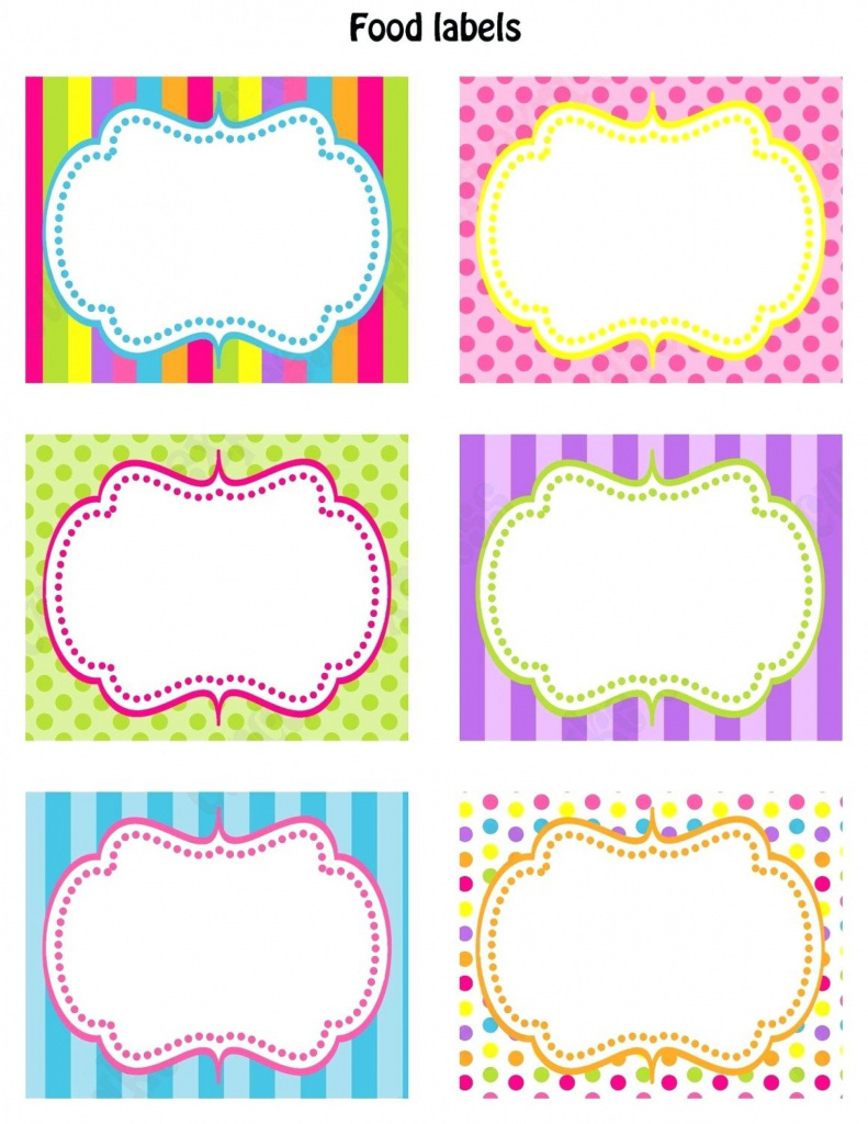 Printable Templates Candy Buffet Labels Template Food Sign Inside - Free Printable Food Tags For Buffet