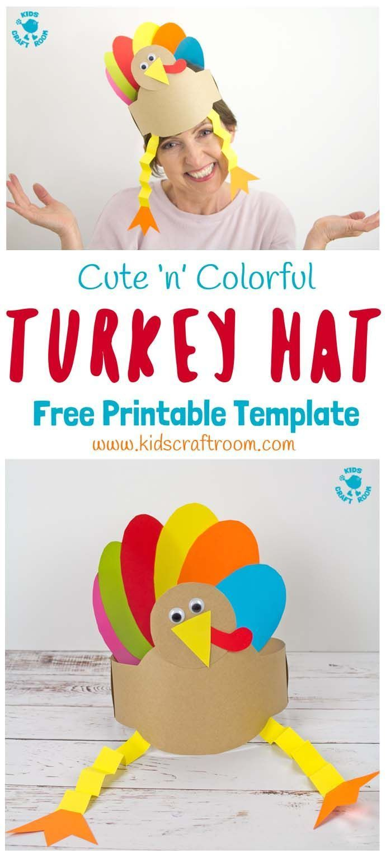 Printable Turkey Hats | Everyday & Holiday Kid Crafts | Pinterest - Free Printable Thanksgiving Hats