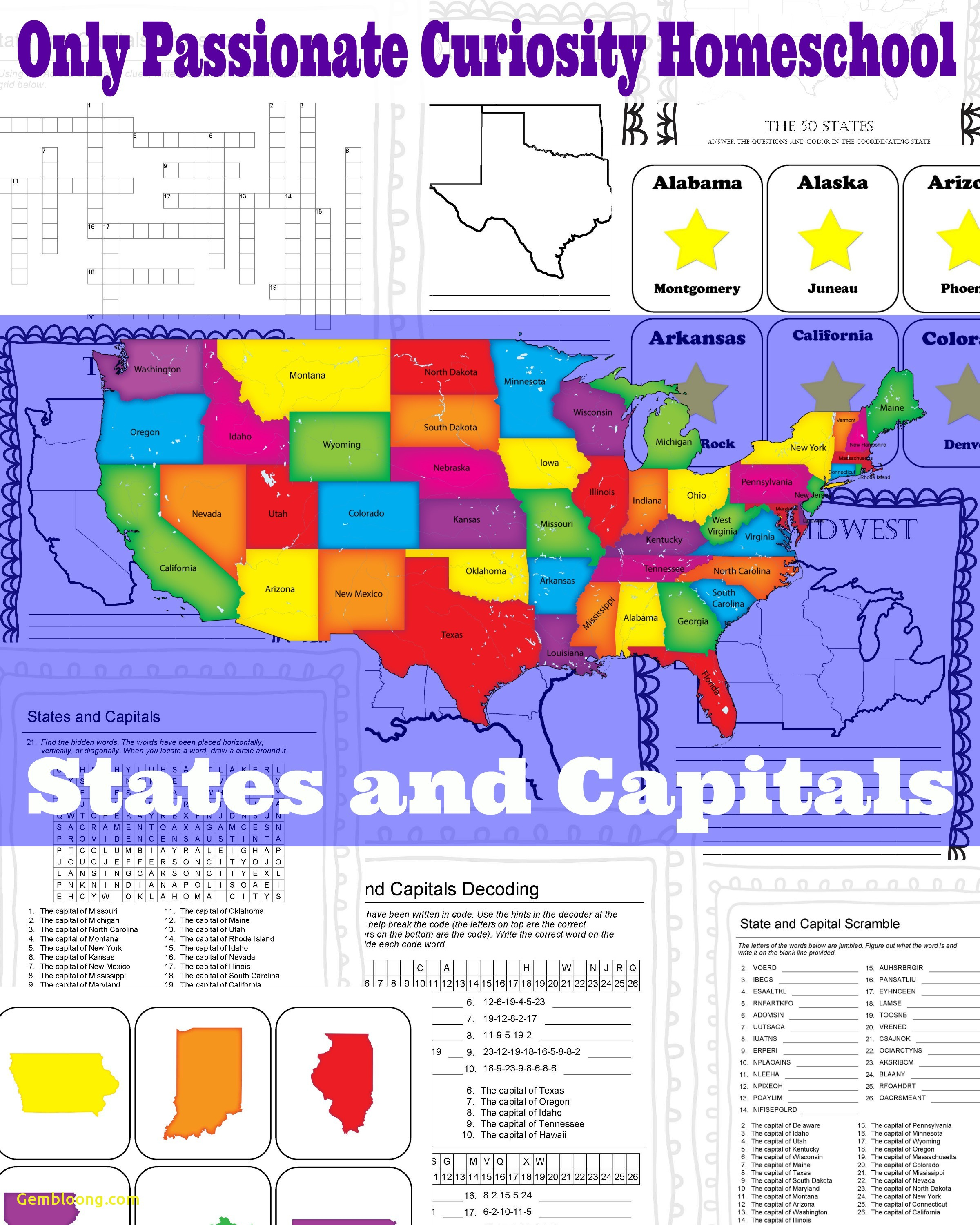 Printable Us Map With State Names And Capitals New Us Map - Free Printable States And Capitals Worksheets