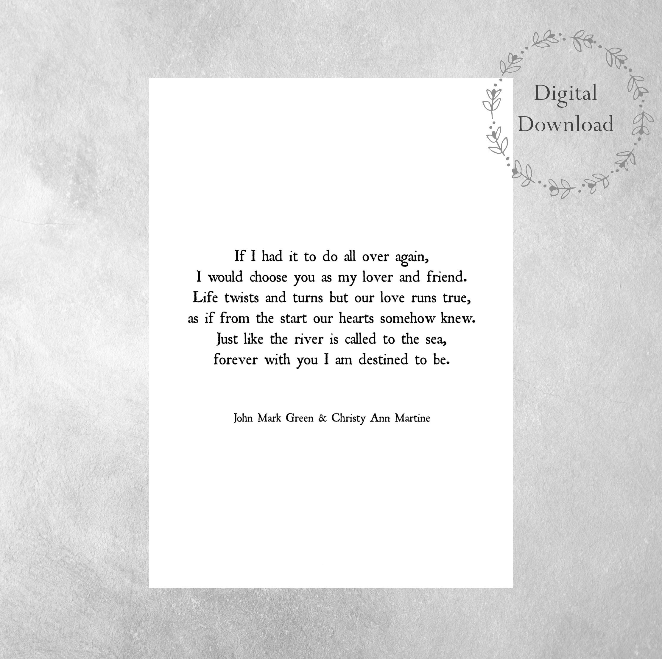 Printable Valentines Day Gift For Wife Or Husband - Anniversary - Free Printable Love Poems For Him