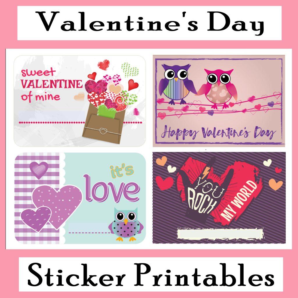 Printable Valentine's Day Stickers - Printables 4 Mom - Free Printable Valentine's Day Decorations
