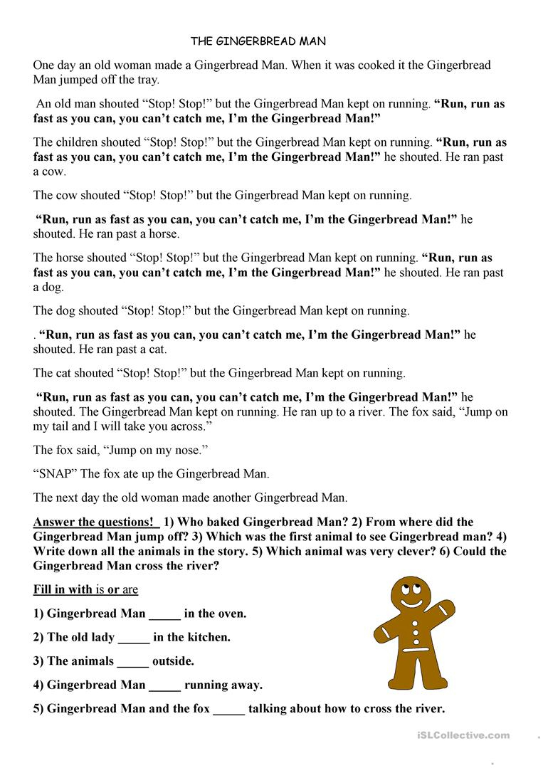 Printable Version Of The Gingerbread Man Story | Download Them Or Print - Free Printable Version Of The Gingerbread Man Story