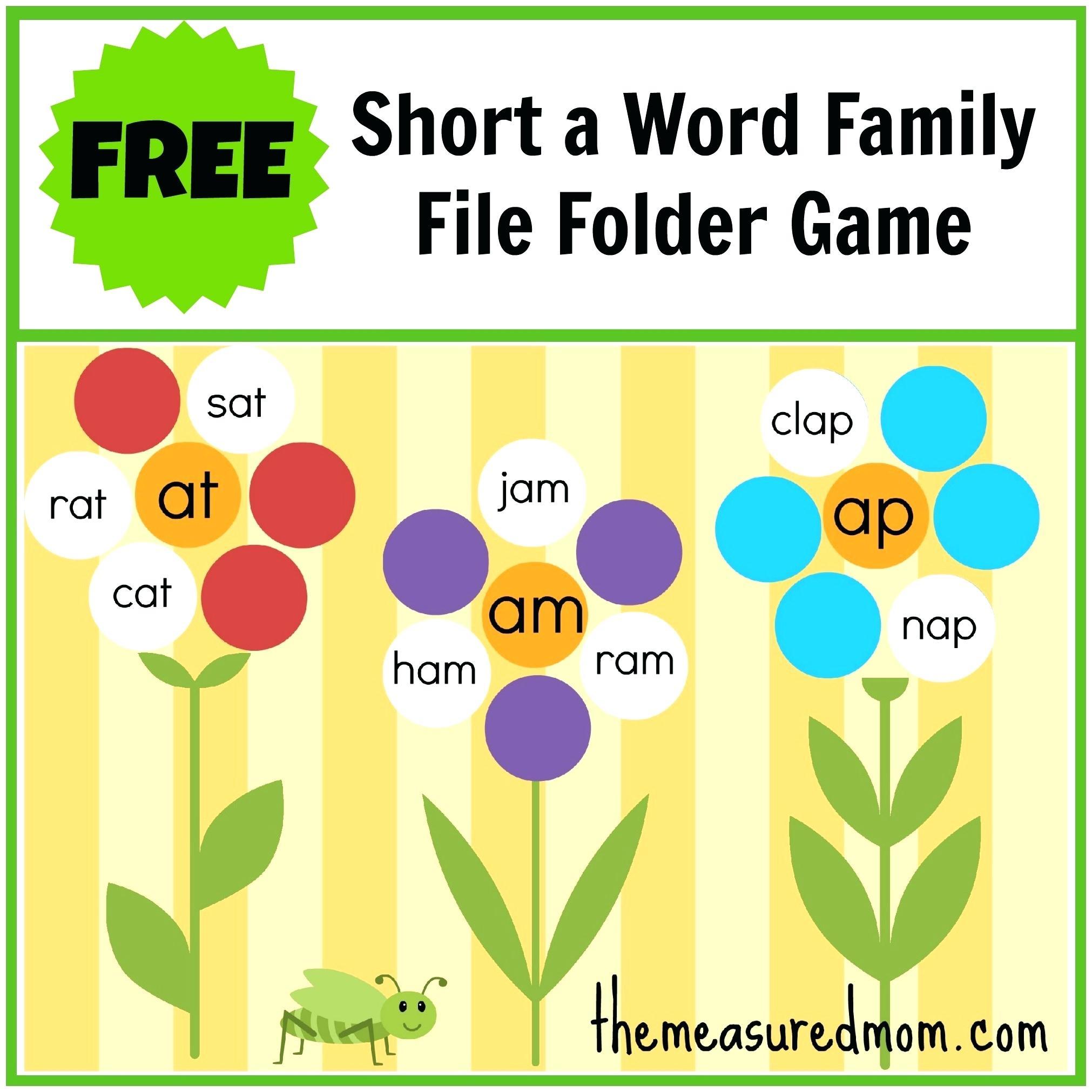 Printable Word Family Lists Printable Word Families List Family Free - Free Printable Word Family Mini Books