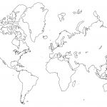 Printable World Maps In Black And White And Travel Information   Free Printable Blank World Map Download