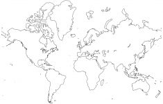 Printable World Maps In Black And White And Travel Information – Free Printable Blank World Map Download